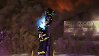 Passaic NJ Fire Department 5th Alarm Fire 92 1st St Fire in a Mexican Food Distributor Building