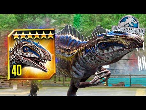 $400,000 VIP ACROCANTHOSAURUS MAX LEVEL 40! - Jurassic World The Game - * New VIP Dinosaur* HD