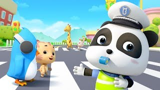 Baby Panda Directs the Traffic | How to Cross Street Safely | Profession Songs for Kids | BabyBus