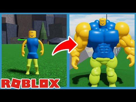 roblox noob skins de roblox Becoming The Biggest Size Noob In Roblox Mega Noob Simulator Youtube