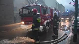 Pożar stodoły w Dzierżoniowie