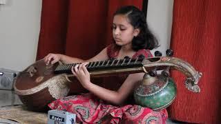 Carnatic Music Vara Veena Geetham practise on veena