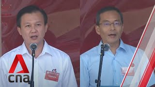 Ge2020: Wp, Pap Candidates For Hougang Smc Address Supporters On Nomination Day