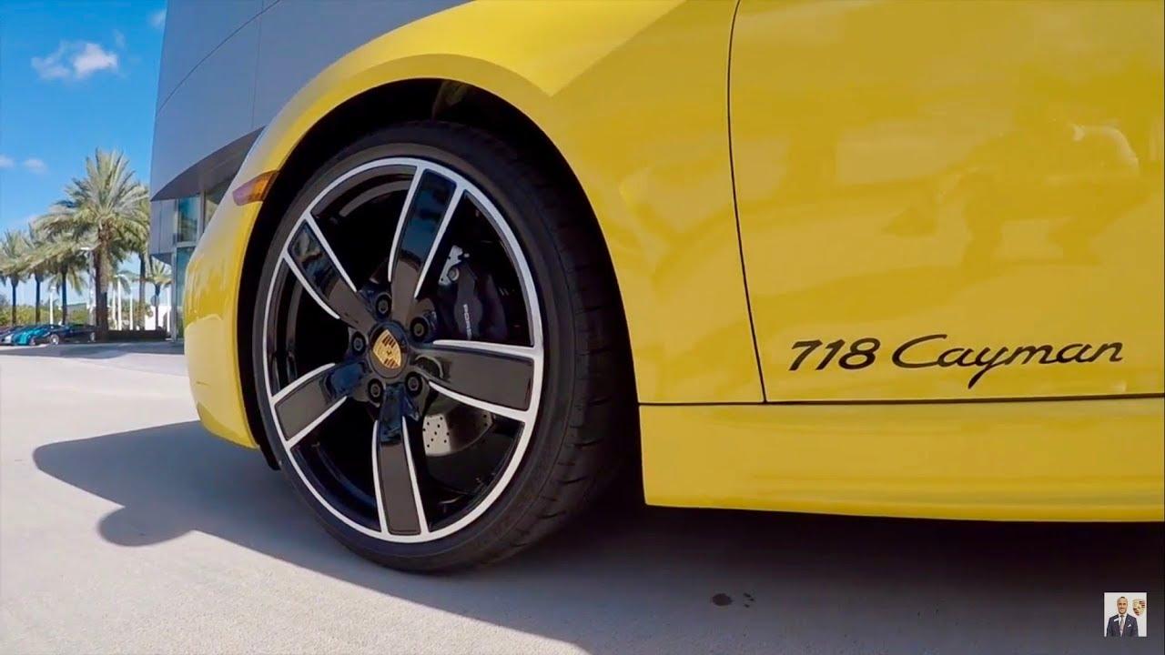 Download 2018 Racing Yellow Porsche 718 Cayman 300 hp @ Porsche West Broward