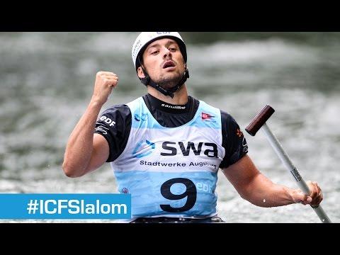 Finals C1M Slalom 4   Augsburg 2014