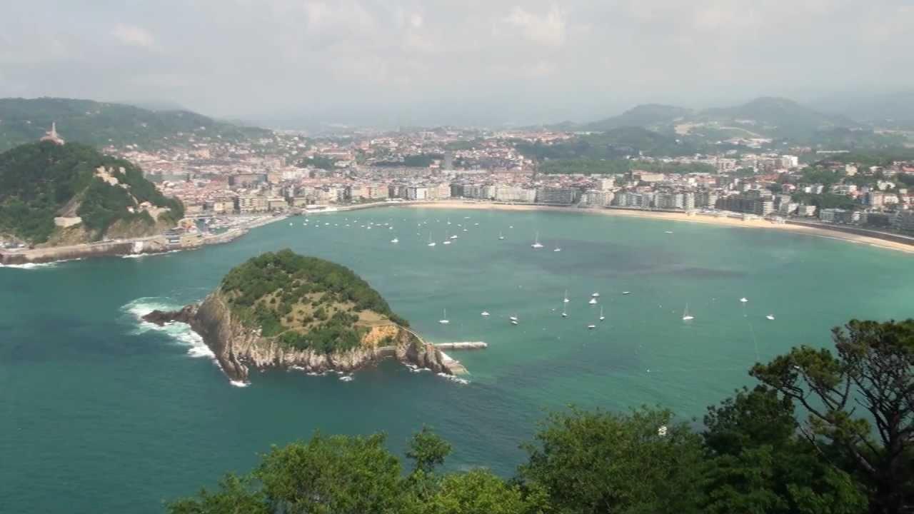 PLACE Vista Donostia San Sebastián la Concha desde monte Igueldo - YouTube