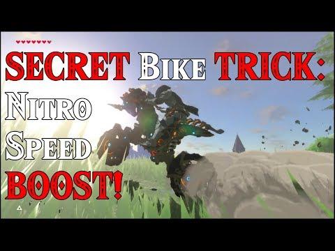 SECRET Motorcycle TRICK: Nitro Speed BOOST! Need for Speed in Zelda Breath of the Wild DLC