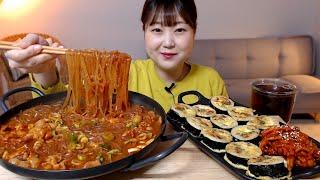 매운 국물닭발에 당면사리추가 김밥전 꼬독한 무김치 먹방…