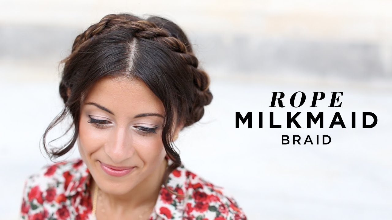 18 cute and comfortable milkmaid braid designs popular haircuts.