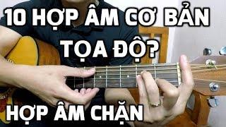 10 hợp âm cơ bản thường gặp| Cách đọc tọa độ hợp âm| Các cách thành lập hợp âm chặn khi chơi Guitar