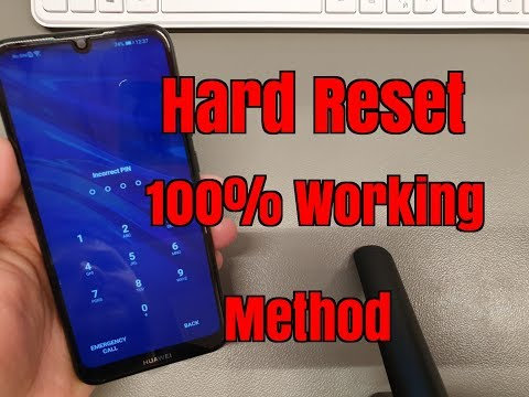 Hard Reset Huawei Y6 2019 MRD-LX1. Remove Pin, Pattern, Password Lock.