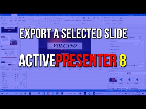 How to Exporting a Selected Slide to Video format in ActivePresenter - T...
