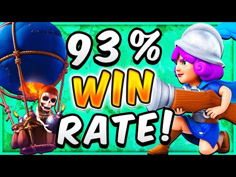 93% WIN RATE! BEST BALLOON DECK In CLASH ROYALE!