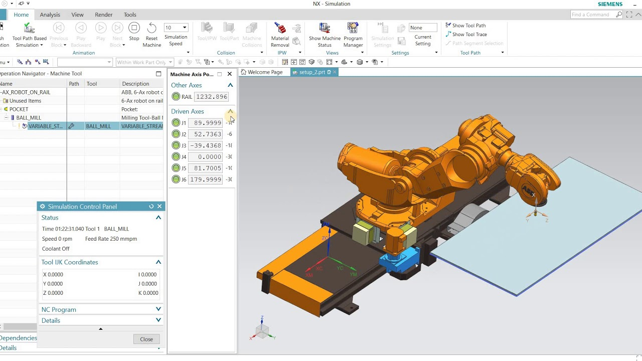 Using Siemens NX for Industrial ABB Robot Simulation