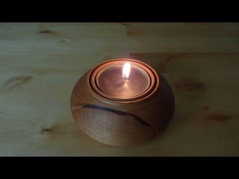 Woodturning Projects Maple Tea Light - YouTube