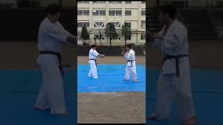2017大泉中学校桜祭り 演武バット折り 壮汰からの佑汰先生
