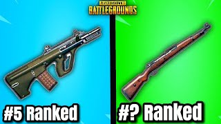 Top 15 BEST GUNS In PUBG RIGHT NOW! (2020 Updated)