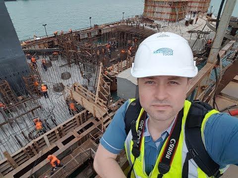 На фарватерном участке Керченского моста