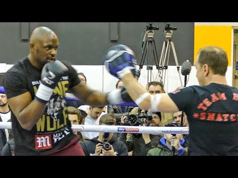 Dillian whyte SMASHING THE PADS ahead of his heavyweight fight with Lucas Browne