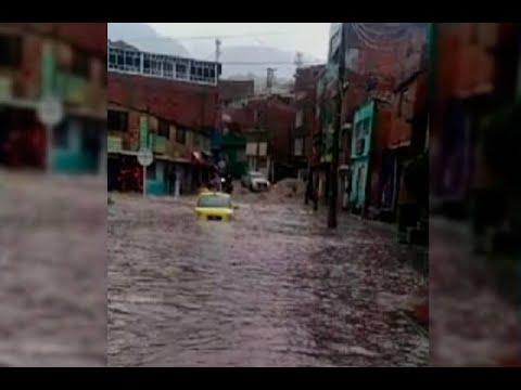 Emergencia por torrencial aguacero en el sur de Bogotá | Noticias Caracol