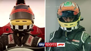 Driving Lewis Hamilton's Mercedes and Niki Lauda's Ferrari 🏎️💨| At Home With Sky F1 | Karun Chandhok