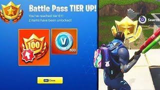 HOW TO GET LEVEL 100 IN FORTNITE! *FREE* Battle Star to RANK UP TIERS FAST! (Fortnite Battle Royale)