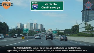 This is a ride along the freeways in northern region of atlanta, georgia. it starts northeast around duluth, with i-85 south from exit 104: pleasa...