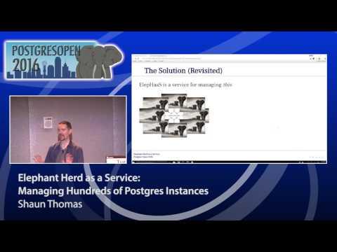 Elephant Herd as a Service: Managing Hundreds of Postgres Instances