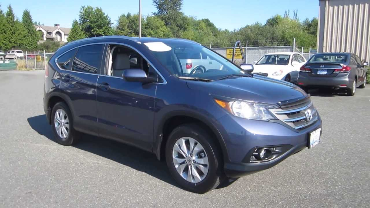 Crv Honda 2013 >> 2012 Honda CR-V, Twilight Blue - STOCK# 29457AX - Walk around - YouTube