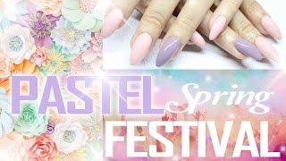 pink pastel spring festival nails