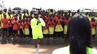 Kanye West and Kim Kardashian visit Ugandan orphanage