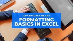 Formatting Basics in Real Estate Financial Modeling