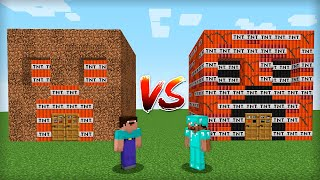 MINECRAFT - WHOSE TNT HOUSE IS BETTER? BATTLE