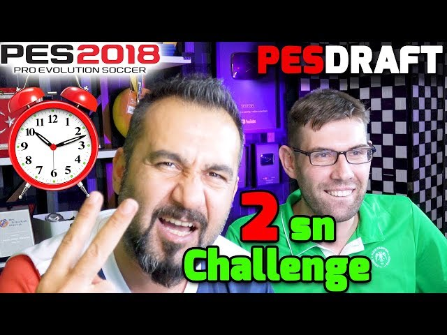 2 SANİYEDE TAKIM SEÇME CHALLENGE! | PES 2018 PESDRAFT