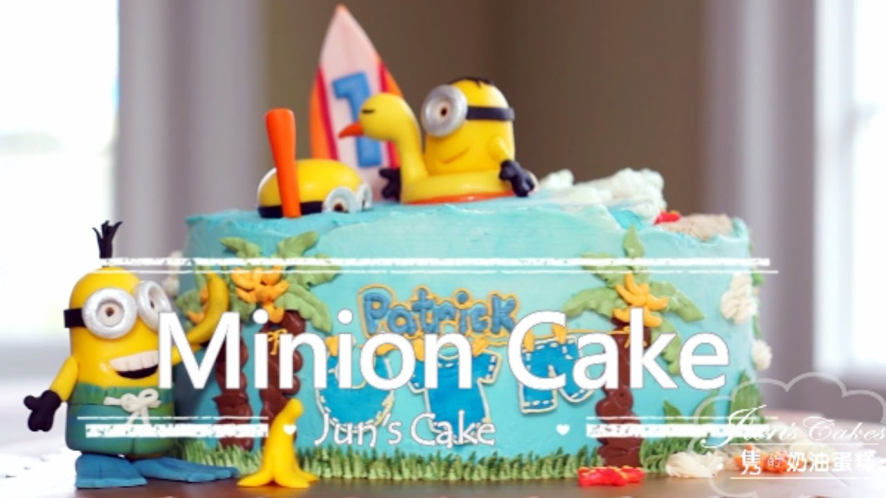 Minion Birthday Cake Beach Theme Youtube