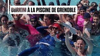 Ces militantes en burkini s'introduisent dans une piscine de Grenoble