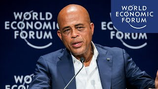 Davos 2012 - Michel Martelly - Building a Better Haiti