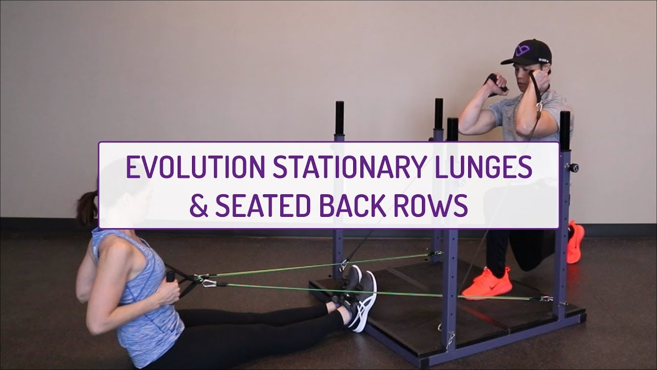 Partner Exercises | Evolution Stationary Back Lunges and Seated Back Rows