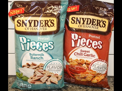 Snyder's of Hanover Pretzel Pieces: Buttermilk Ranch & Sweet Chili Garlic Review