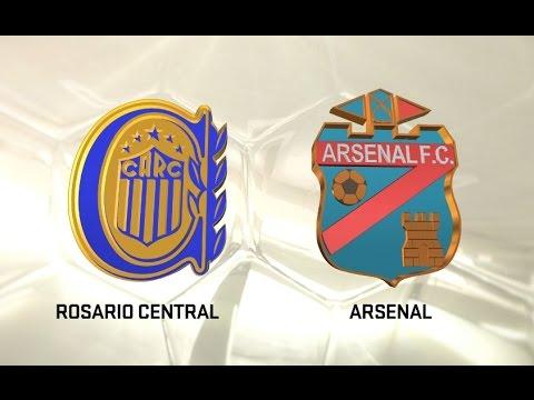 Rosario Central vs. Arsenal. Fecha 5. Torneo de Primera División 2016/2017. FPT