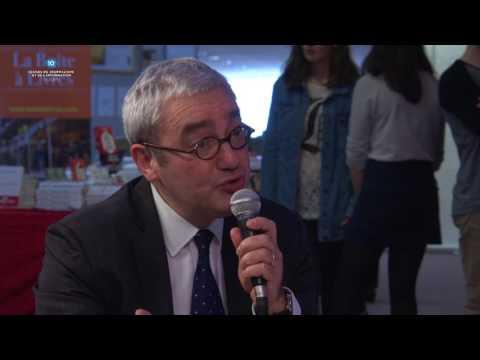 Emmanuel Hoog, PDG de l'Agence France Presse (AFP), en plateau avec l'AFP