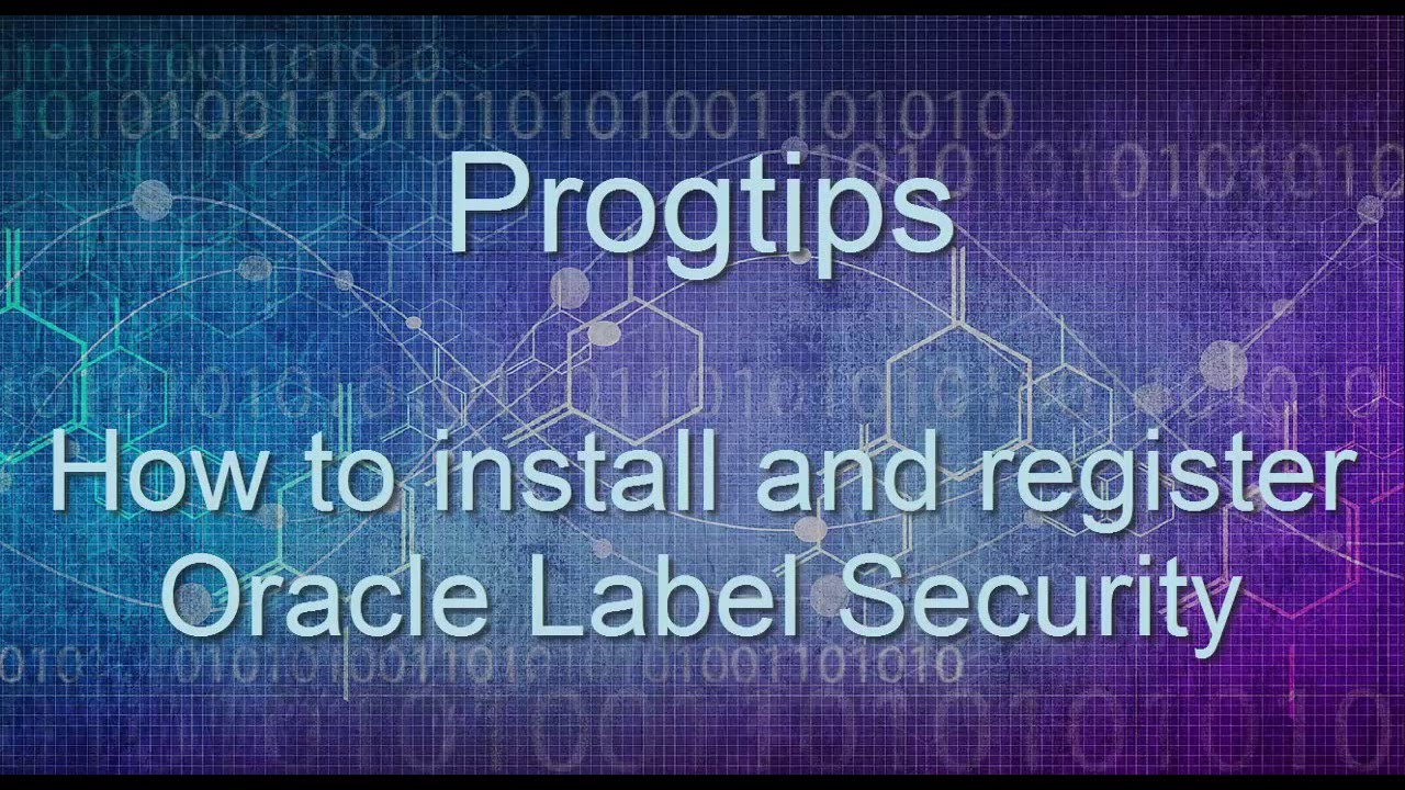 It is a graphic of Handy Oracle Label Security 11g