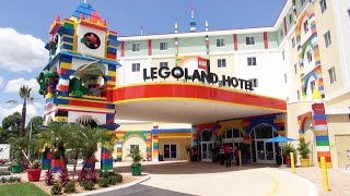 LEGOLAND Florida Hotel BRICKS Family Restaurant Tour w/ Lego Figures & Food: Dinner, Breakfast