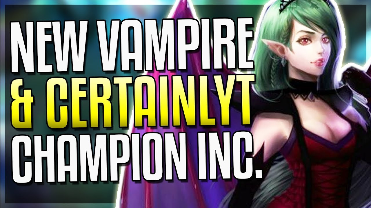 New Girl Vampire Certainlyt Zoe Yasuo Champion Coming 2018 More League Of Legends