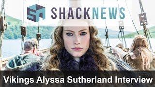 Vikings Alyssa Sutherland Talks Mario Kart
