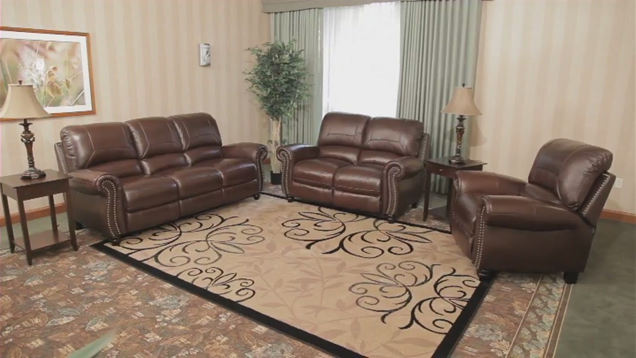 Costco Leather Living Room Furniture Built Ins No Fireplace Full Grain Sofa Youtube