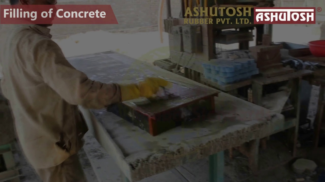 Making Of Kerb Stone From ASHUTOSH RUBBER Mould