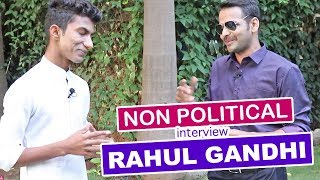 Non Political Interview With Rahul Gandhi Election 2019