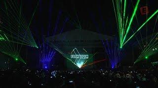 Солигорску - 60 лет! Лазерное шоу на площади (Full Version)