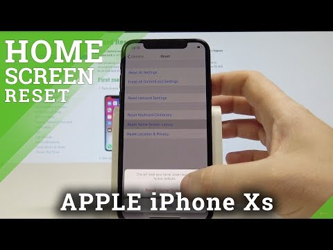 How to Reset Home Screen on iPhone Xs - Clean Up Home Screen Layout